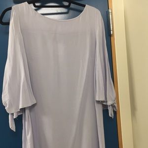 Blue split sleeves dress